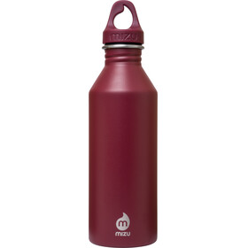 MIZU M8 juomapullo with Burgundy Loop Cap 800ml , punainen
